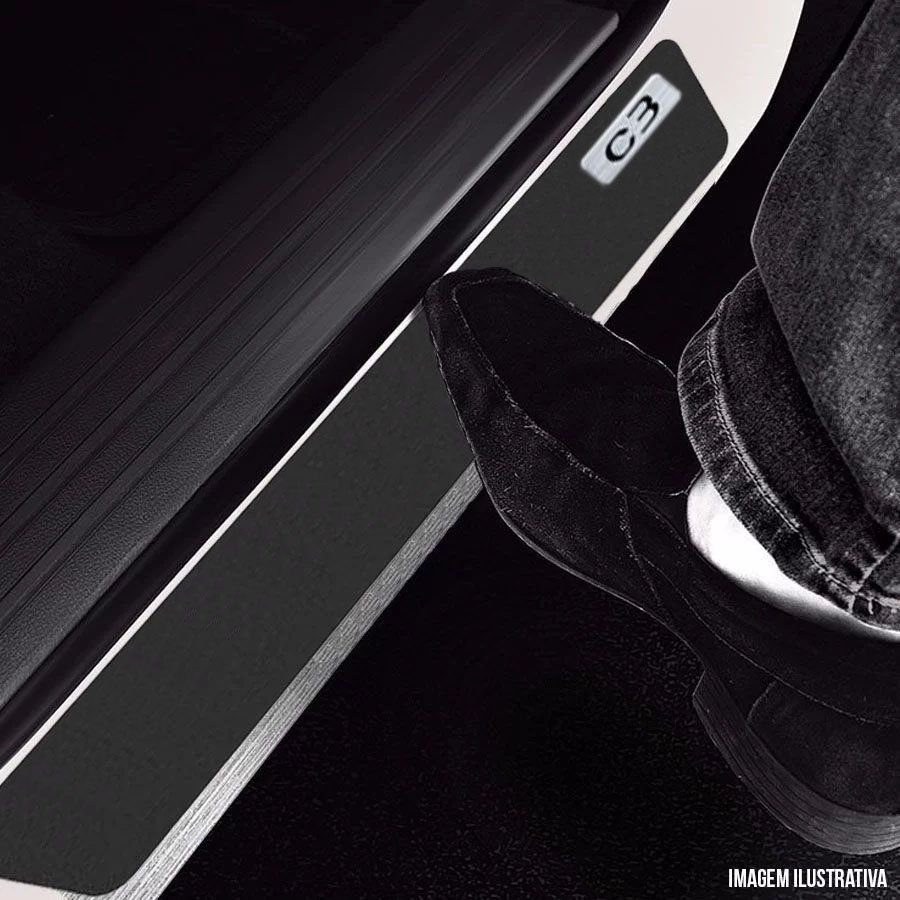Soleira Resinada Mini Premium Citroen C3 2013 14 15 16 17 18 19 6 Peças