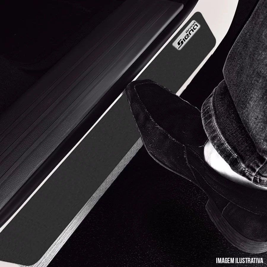 Soleira Resinada Mini Premium Fiat Grand Siena 2012 13 14 15 16 17 18 19 6 Peças