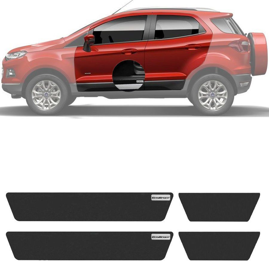Soleira Resinada Mini Premium Ford Ecosport 2013 14 15 16 17 6 Peças