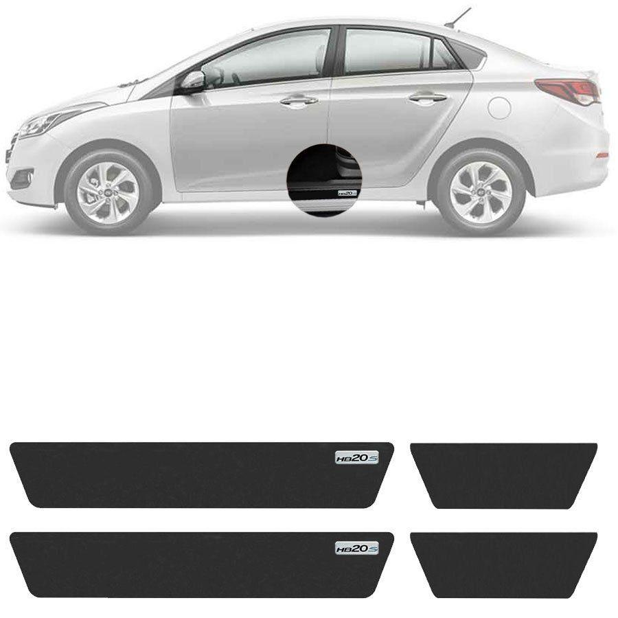Soleira Resinada Mini Premium Hyundai Hb20s 2012 13 14 15 16 17 18 19 6 Peças