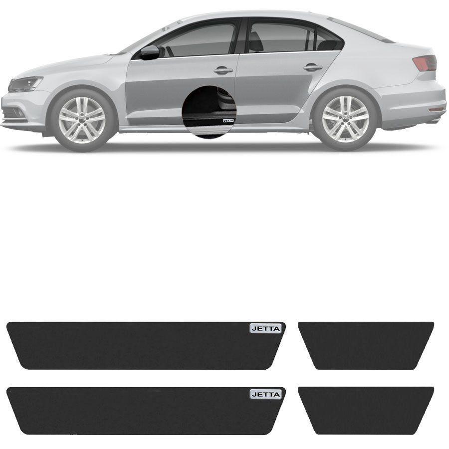 Soleira Resinada Mini Premium Volkswagen Jetta 2006 07 08 09 10 11 12 13 14 15 16 17 18 19 6 Peças