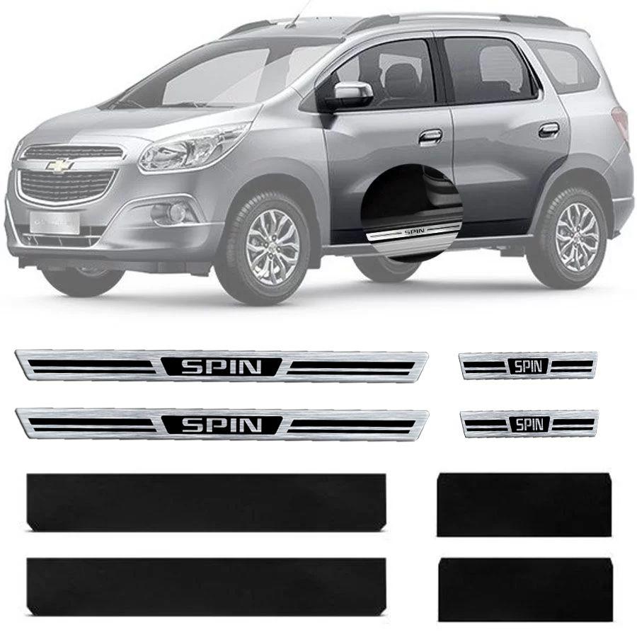 Soleira Resinada Premium Chevrolet Spin 2012 13 14 15 16 17 8 Peças