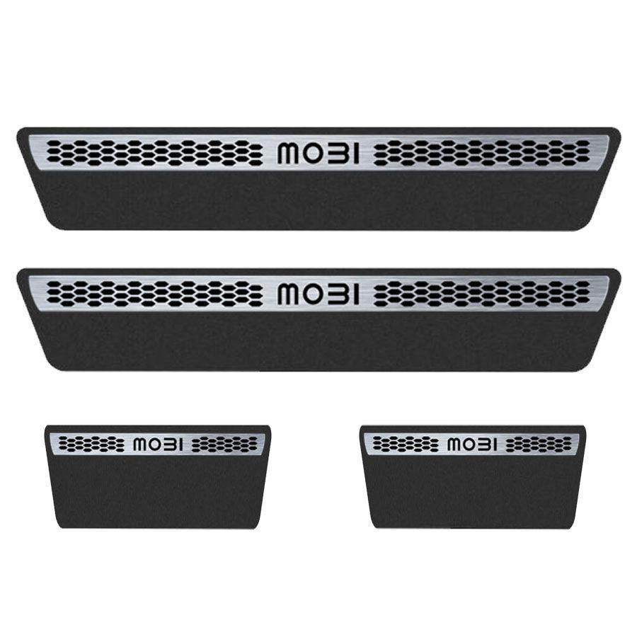 Soleira Resinada Premium Fiat Mobi 2016 17 18 8 Peças