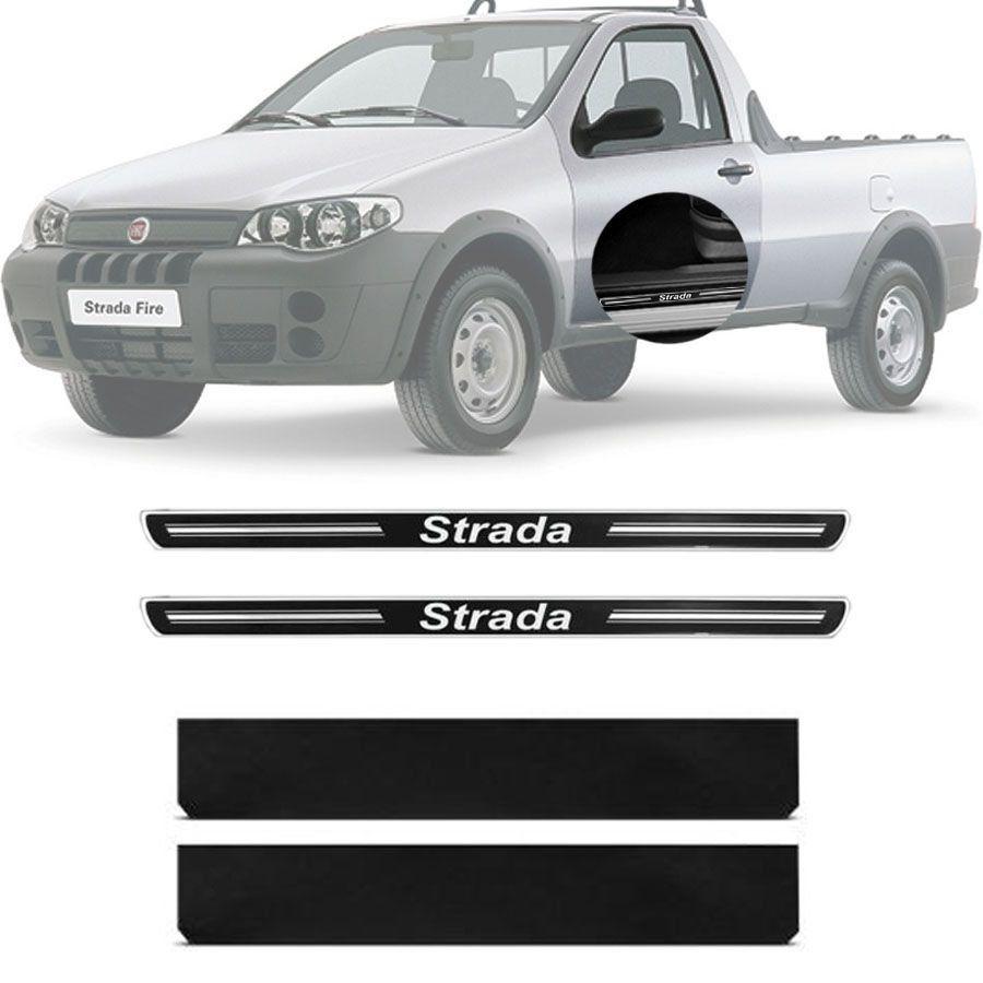 Soleira Resinada Premium Fiat Strada 2005 06 07 08 Cabine Simples 2 Portas
