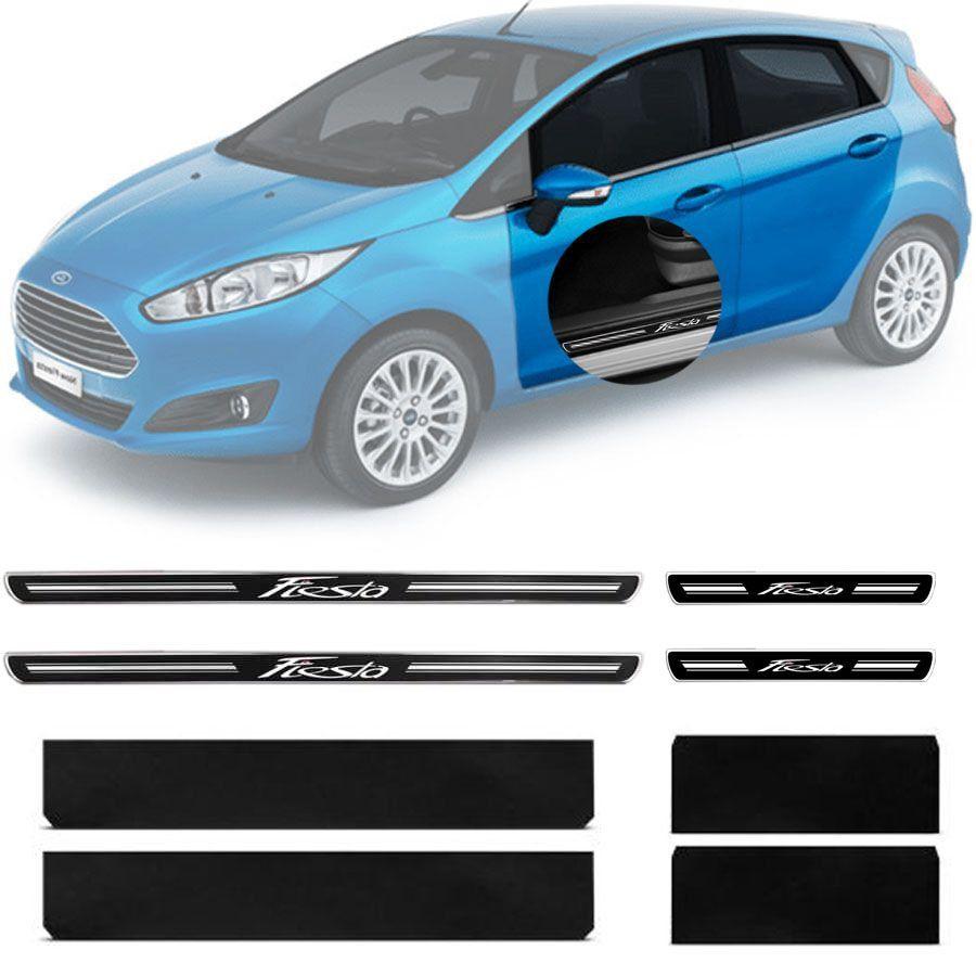 Soleira Resinada Premium Ford New Fiesta Hatch Sedan 2011 12 13 14 15 16 17 18 19 8 Peças