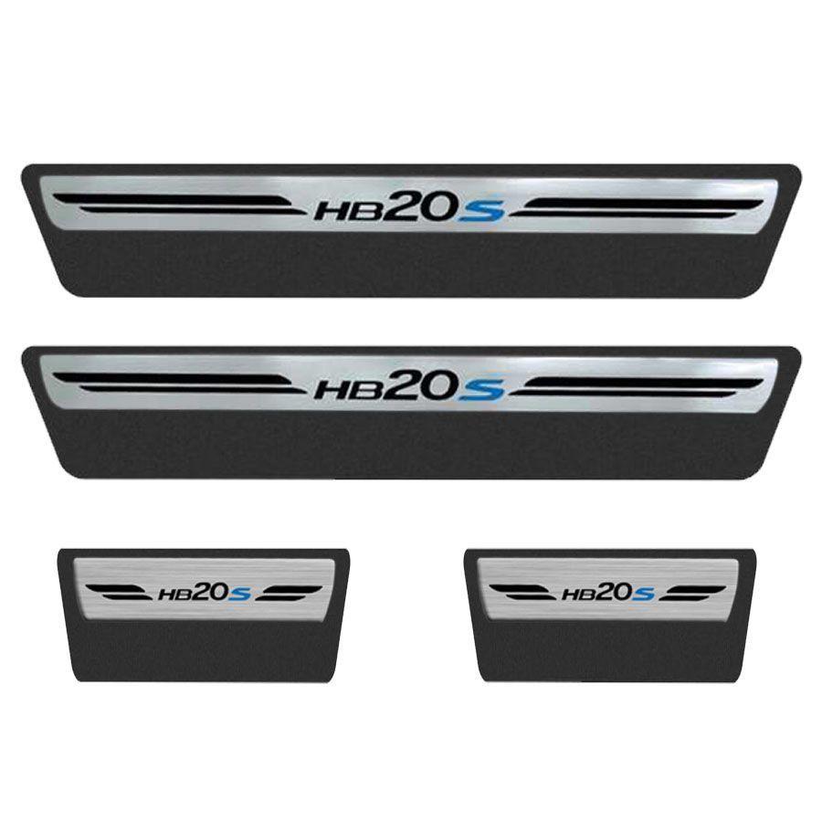 Soleira Resinada Premium Hyundai Hb20s 2012 13 14 15 16 17 18 8 Peças