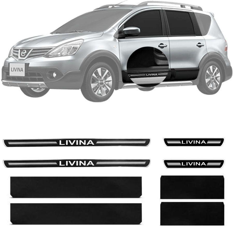 Soleira Resinada Premium Nissan Livina 2010 11 12 13 14 8 Peças