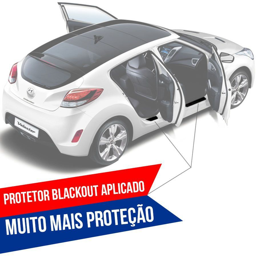 Soleira Resinada Premium Renault Sandero 2015 16 17 18 19 20 21 22 8 Peças