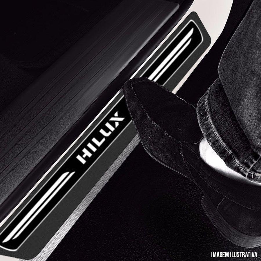 Soleira Resinada Premium Toyota Hilux Cabine Dupla 2016 17 18 19 8 Peças