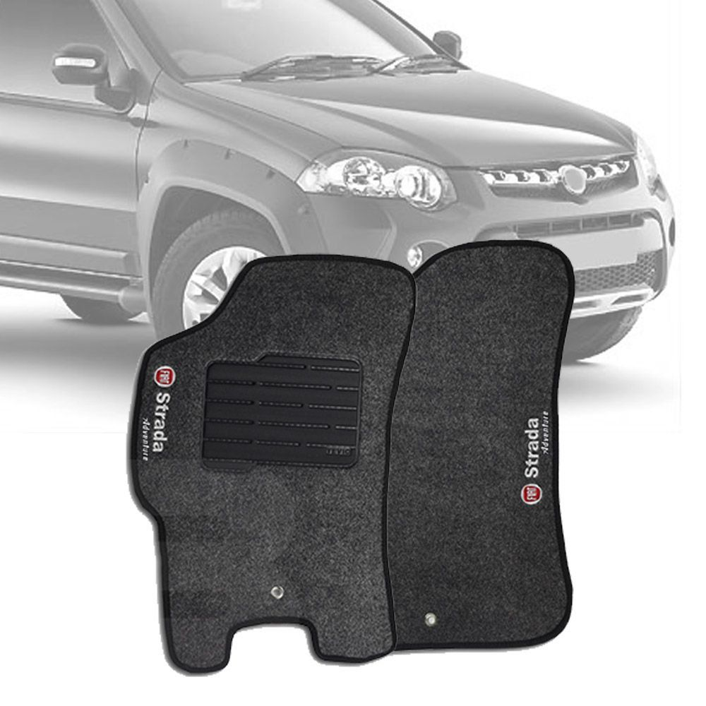Tapete Carpete Tevic Fiat Strada Adventure 2013 14 15 16 Cabine Simples