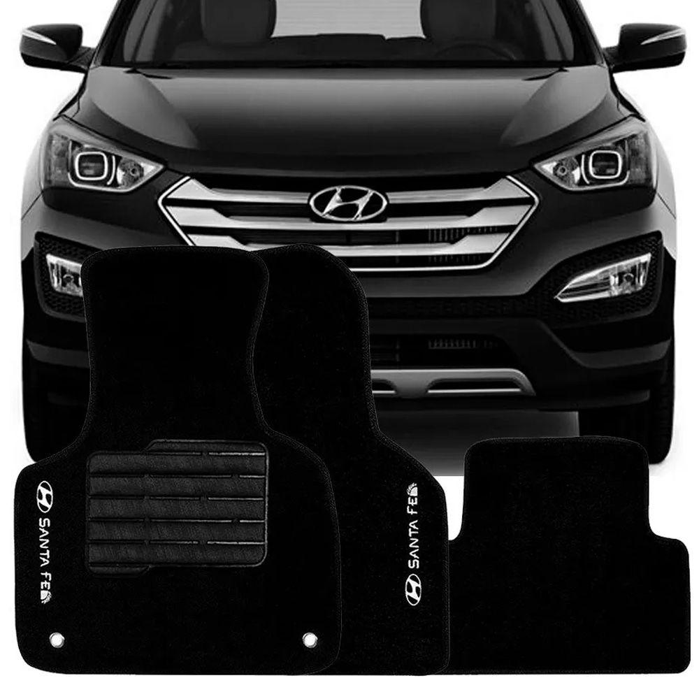Tapete Carpete Tevic Hyundai Santa Fé 2014 15 16   Bevic Acessórios ...