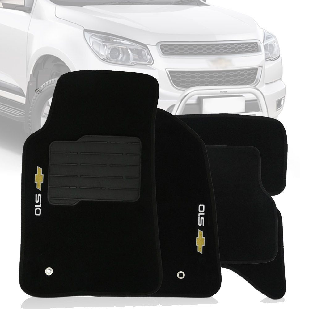 Tapete Carpete Tevic Chevrolet S10 S-10 Cabine Dupla 2012 13 14 15 16 17 18