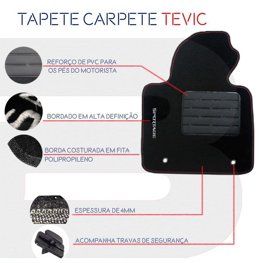 Tapete Carpete Tevic Chevrolet Spin 2012 13 14 15 16 17 18