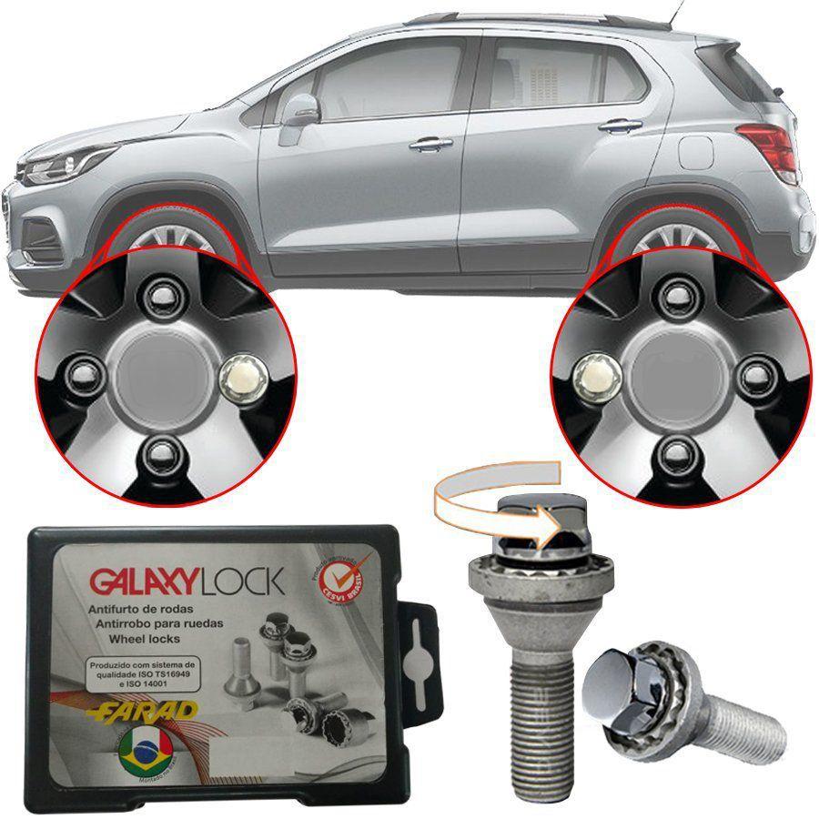 Trava Antifurto Anti Roubo de Roda Parafuso Porca Farad Galaxylock Chevrolet Tracker Com Mais de 10.000 Segredos H/M