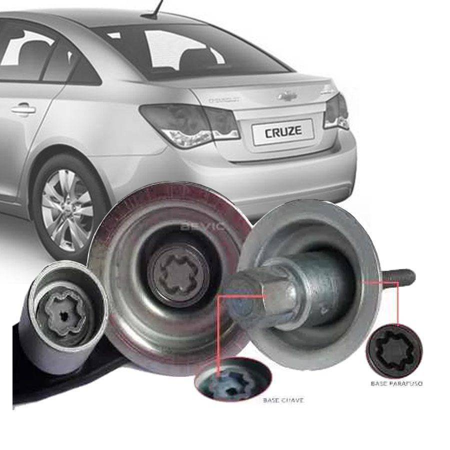 Trava Antifurto Anti Roubo Estepe Chevrolet Cruze Hatch Sedan Sparelock Com Mais de 10.000 Segredos