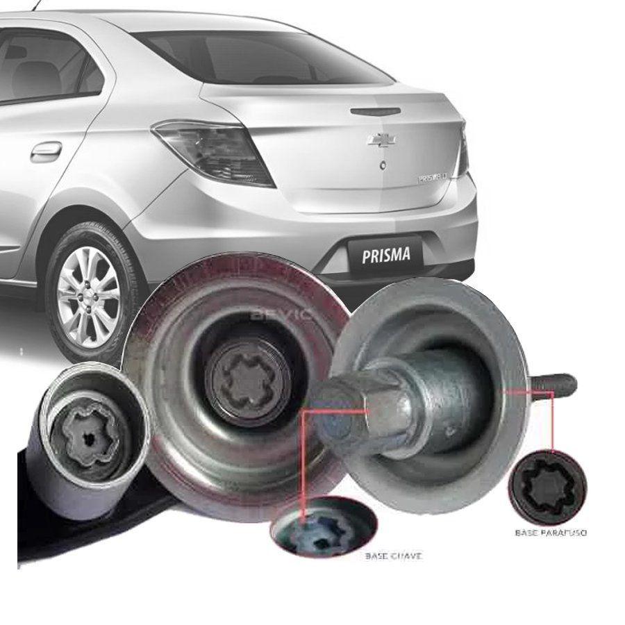Trava Antifurto Anti Roubo Estepe Chevrolet Prisma 2013 Em Diante Sparelock Com Mais de 10.000 Segredos