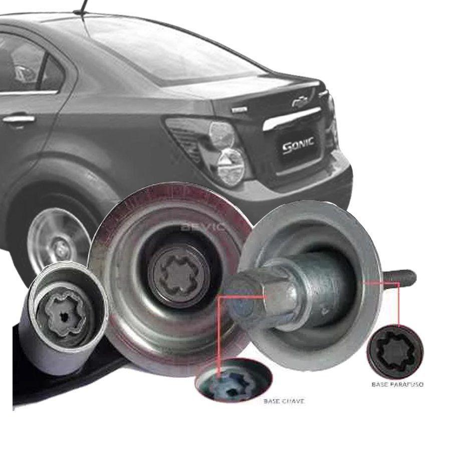 Trava Antifurto Anti Roubo Estepe Chevrolet Sonic Hatch Sedan 2011 Em Diante Sparelock Com Mais de 10.000 Segredos