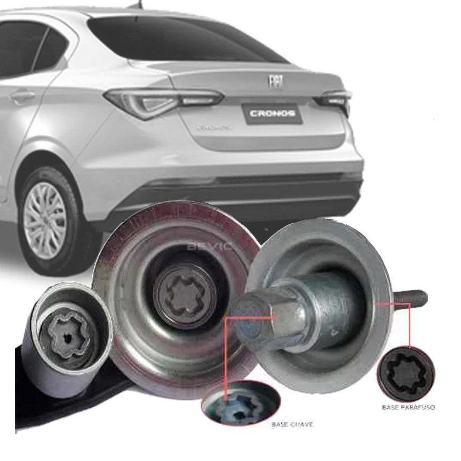 Trava Antifurto Anti Roubo Estepe Fiat Cronos 2018 Em Diante Sparelock Com Mais de 10.000 Segredos FT12