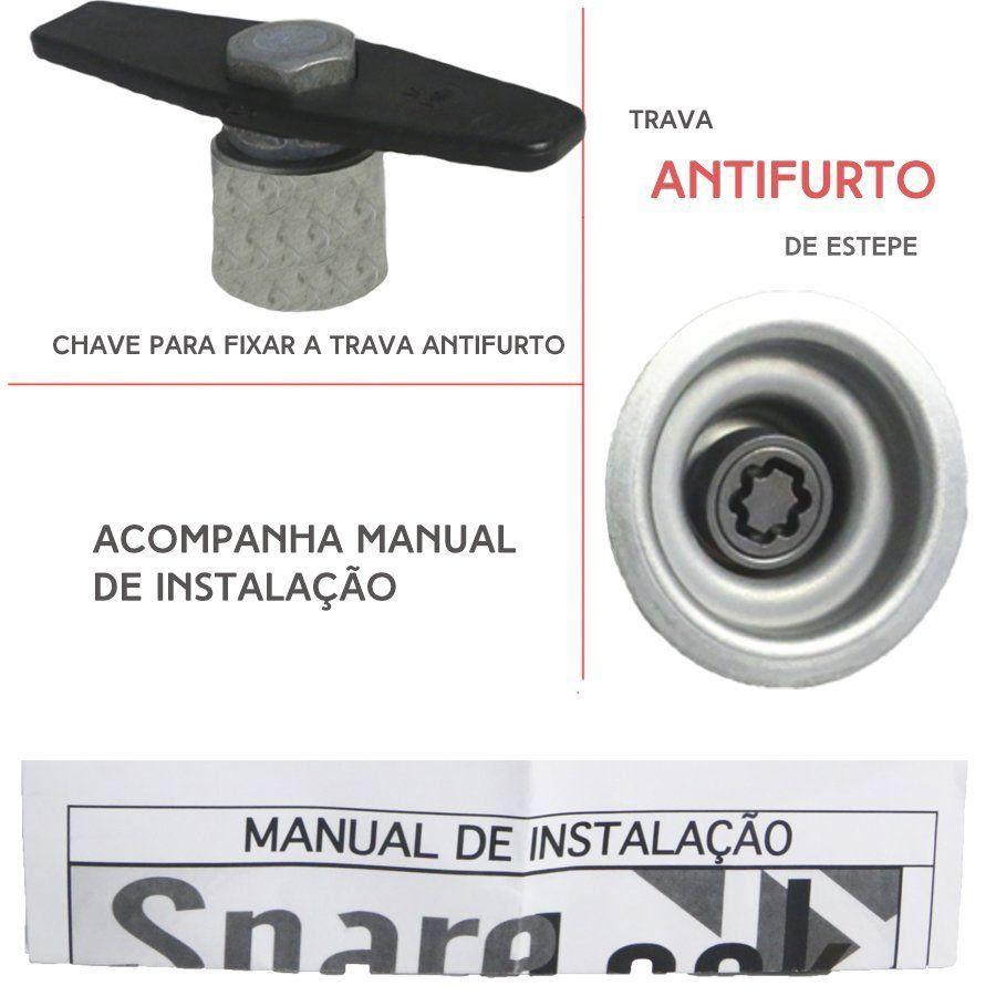 Trava Antifurto Anti Roubo Estepe Honda Fit 2003 a 2007 Sparelock Com Mais de 10.000 Segredos
