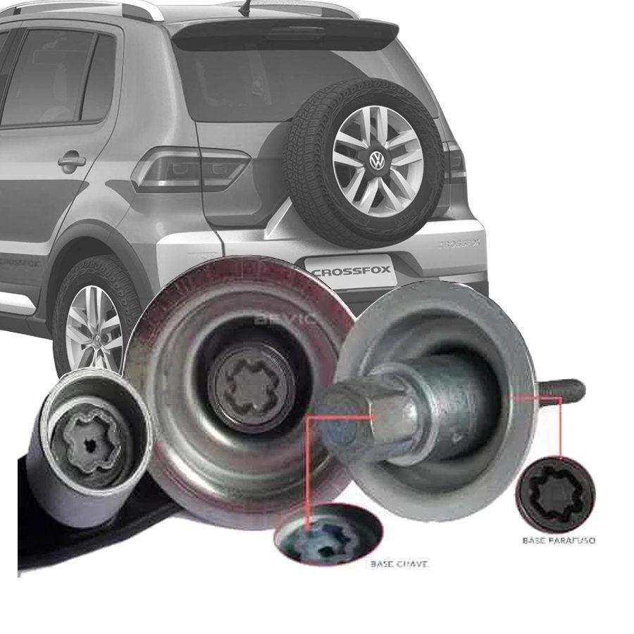 Trava Antifurto Anti Roubo Estepe Volkswagen Crossfox Sparelock Com Mais de 10.000 Segredos