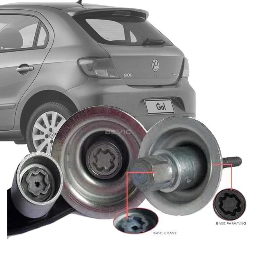 Trava Antifurto Anti Roubo Estepe Volkswagen Gol G4 G5 G6 Sparelock Com Mais de 10.000 Segredos