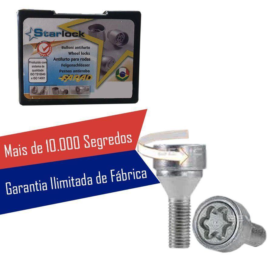 Trava Parafusos Porcas Antifurto Roubo Farad Starlock Bmw Serie 3 2002 Até 2011 Com Mais de 10.000 Segredos I/E