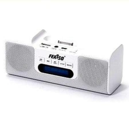 Caixa De Som Portatil Fasom-80 Hi-Fi Fm P/ Ipod E Iphone Br