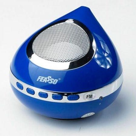 Caixa De Som Portatil Hi-F Usb C/ Radio Azul Fasom-25
