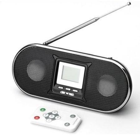 Caixa De Som Portatil Hi-F Usb C/ Radio Fm Fasom-32 Preto