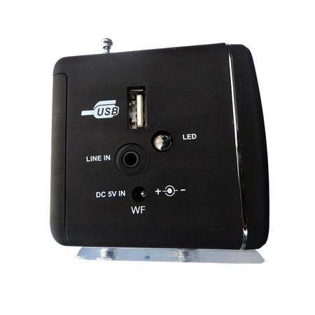 Caixa De Som Portatil Mini Amplificada C/ Sd/Usb/Fm Ws-909