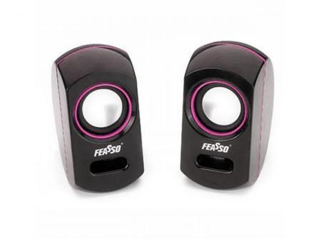 Caixa De Som Portatil Usb S/ Pilhas Fasom-10 Rosa