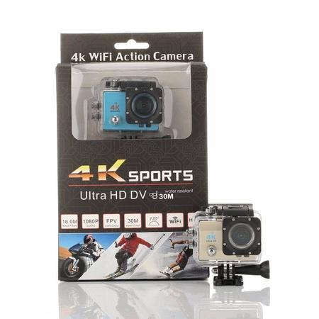 Camera Sport Hd Dv 16mp Ultra 4k Prova D'agua Wi-Fi)(