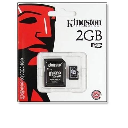 Cartao De Memoria 2gb Sd Micro Kingston C/ Adapt. Kingston