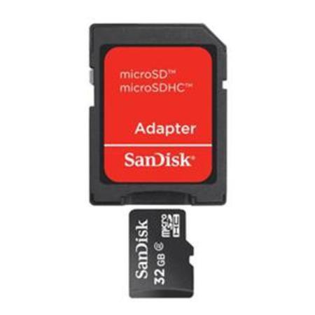 Cartao De Memoria 32gb Sd Micro Sandisk C/ Adapt.