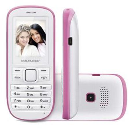 Celular Multilaser Fun 2chips Quad Cam Mp3/4/Fm Banco/Rosa P3202