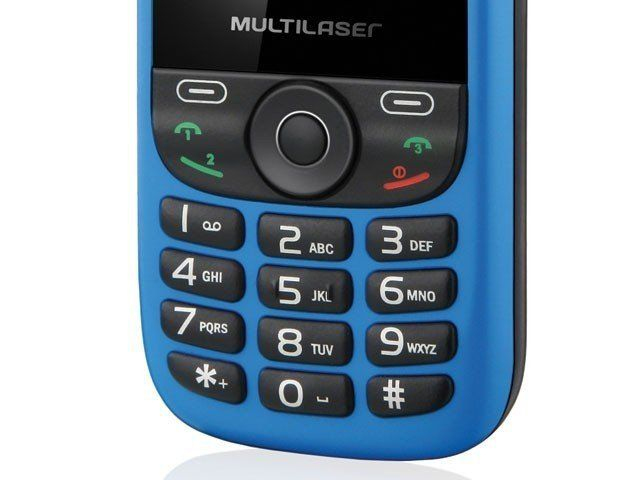 Celular Multilaser Up 3 Chips Mp3/Mp4/Fm P3200 Azul/Preto
