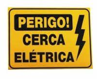 Cerca - Placa Advertencia Fina 18x11 - Cerca Eletrica