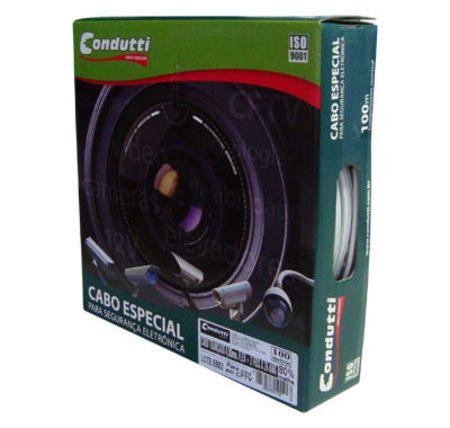 Cftv Cabo Coaxial Com Alimentacao 4mm Cel 80%Nu 100mts