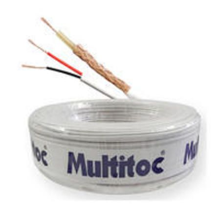 Cftv Cabo Coaxial Com Alimentacao Multitoc 4mm + 2x26 Awg-75 Ohms-80% (Rl/100m) Muca2084