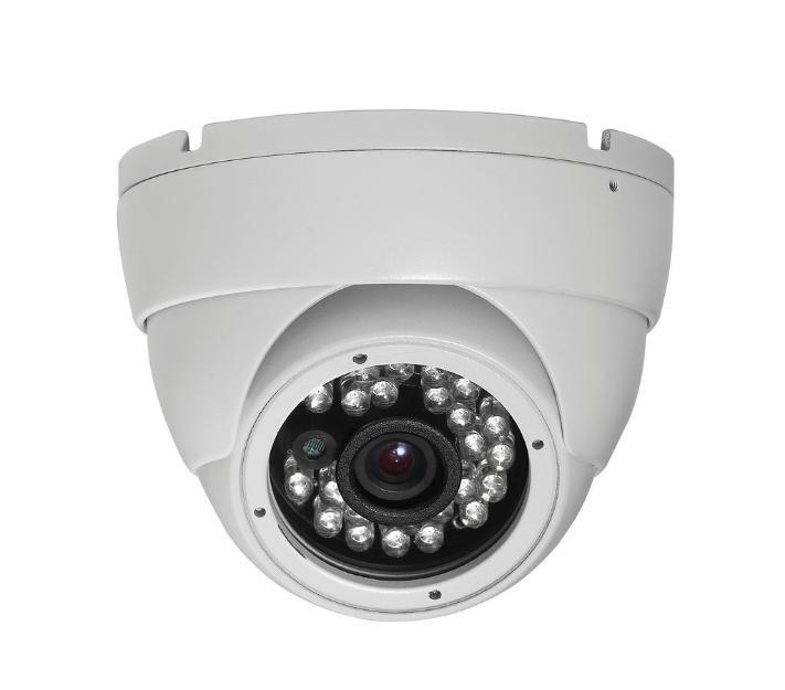 Cftv Camera Infra 1/4 420tvl 15m Gs1415sdb Dome Branco Sony