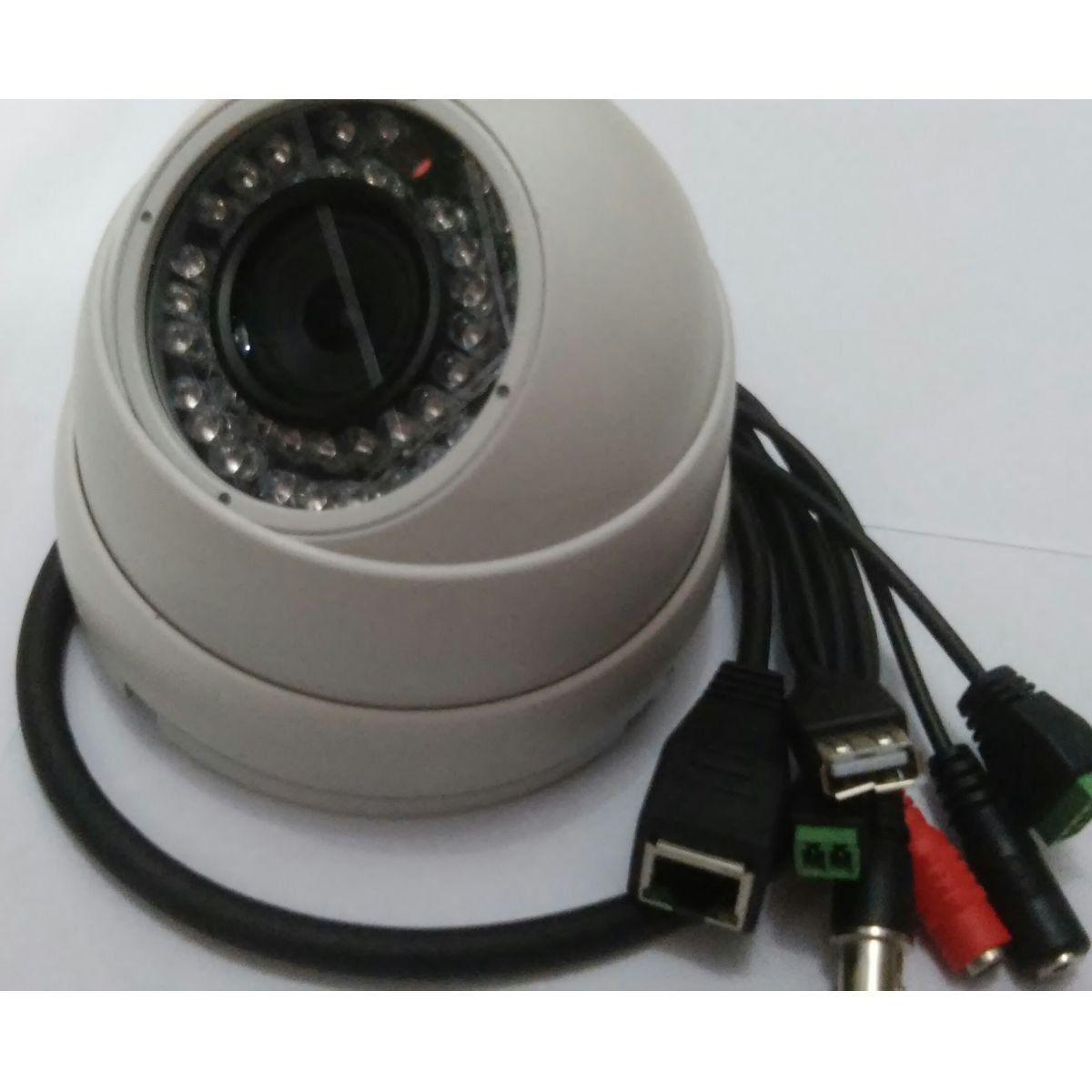 Cftv Camera Infra Ip Hd Wdr - Lente Fixa Dome Gsip1000dwdr