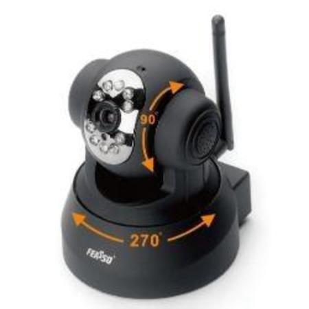 Cftv Camera Ip Feasso Wireless Internet F-Ipcam01 Preta (Interna)
