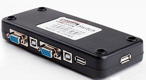 Chaveador Kvm P/ 4 Teclados/4 Mouses/4 Monitores