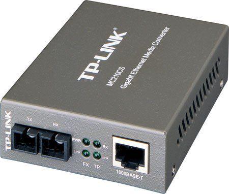 Conversor Midia Tp-Link Mc210cs Fibra P/Rede 10/100/1000 Singlemode Full-Duplex Up 15km