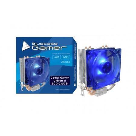 Cooler Gamer P/ Processador Universal Amd E Intel Cobre Bcg-03Ucb Led Azul