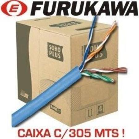 Cx Cabo De Rede Furukawa 24awgx4p Soho Plus Cat5 305m 4pares Cmx Azul