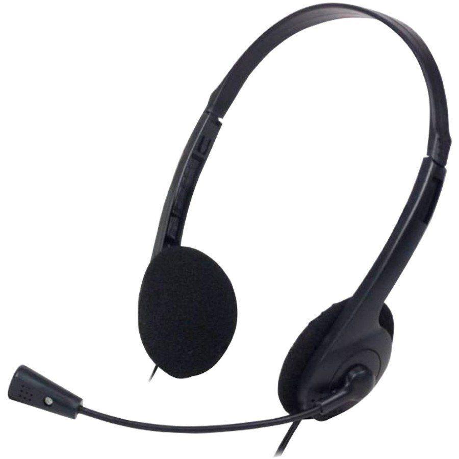 Fone De Ouvido C/ Microfone Basico Preto Hf-10mv ()