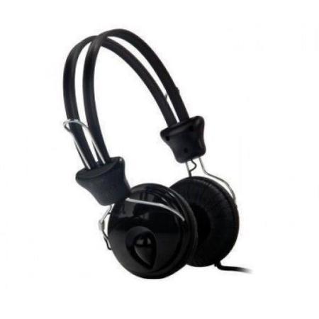 Fone De Ouvido Headphone Black Color Blister Lm9089