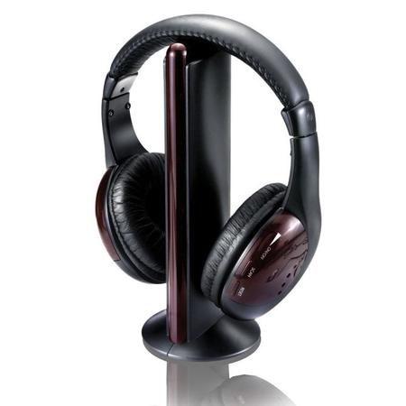 Fone De Ouvidosem Fio 5 Em 1 Com Fm P2/Rca Ph036