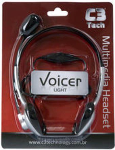 Fone Headset +Mic Ct662040bs/Voicer Light C3tech